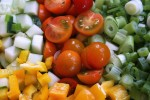 closeup veggies
