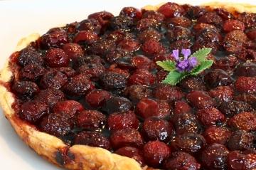 chocolate cherry cordial tart
