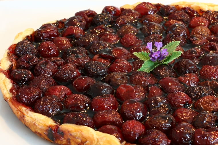 chocolate cherry cordial tart