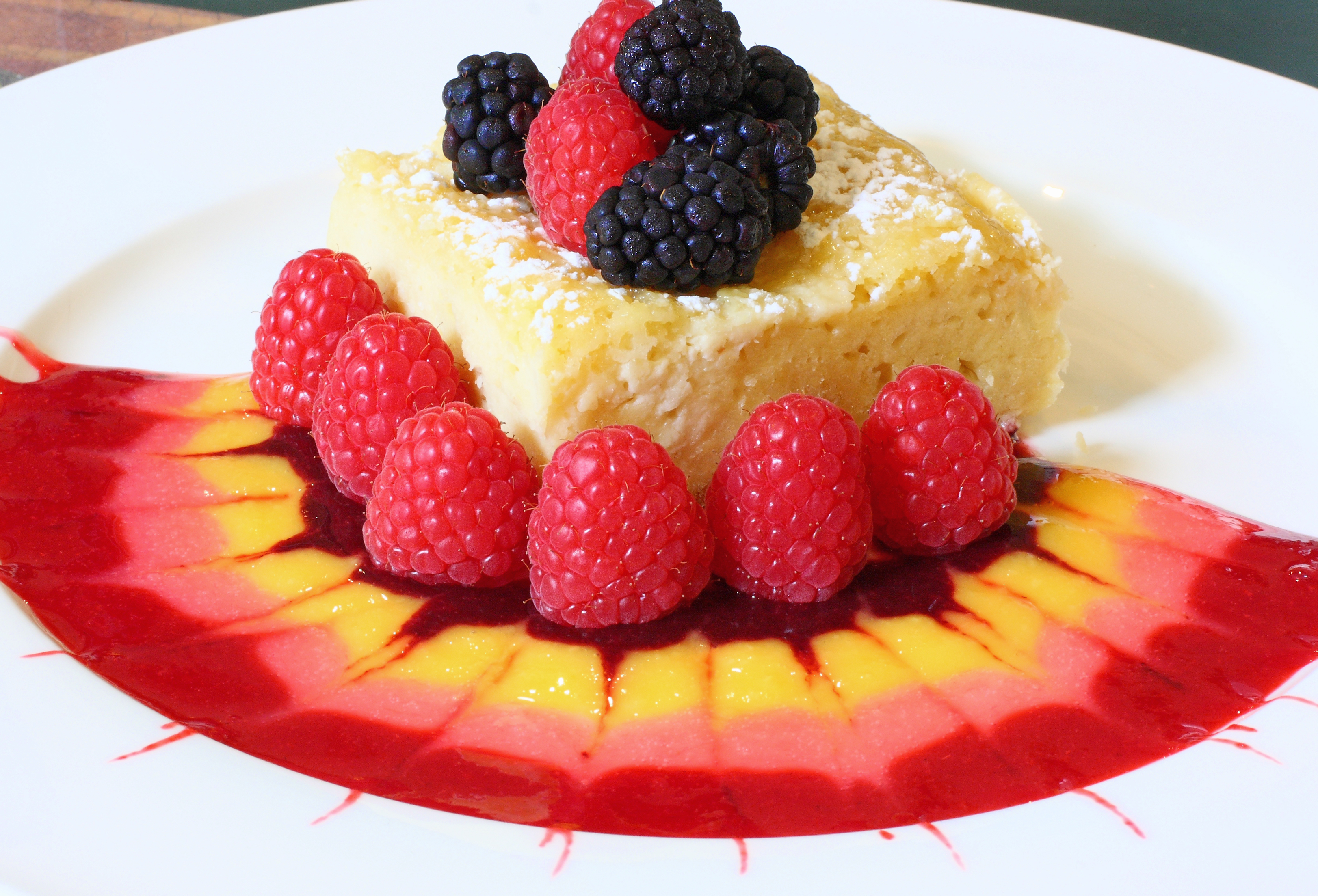 Cheese blintz souffle with berry coulis musings of the for Fruit coulis
