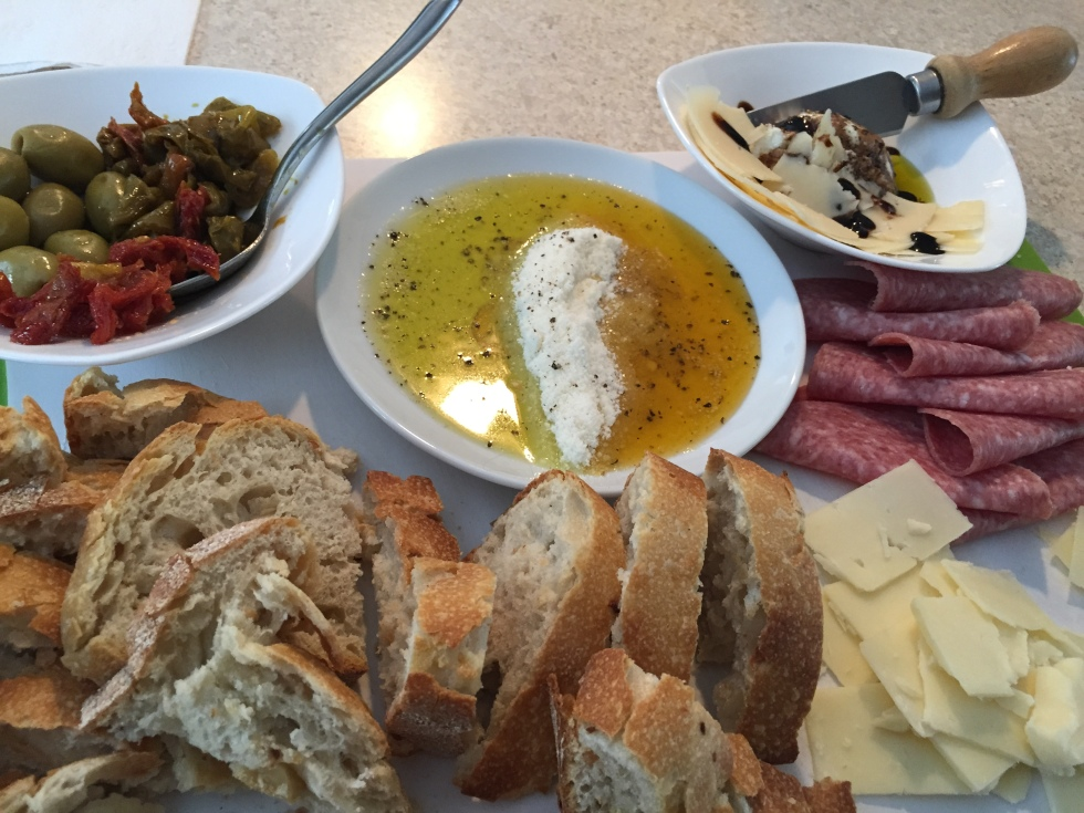 crusty bread and olive oil